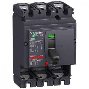 poza Intreruptor automat Compact NSX100B -100 A- 3 poli - fara unitate de declansare